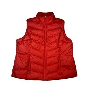 Eddie Bauer Mens XXL EB 550 Goose Down Red Vest